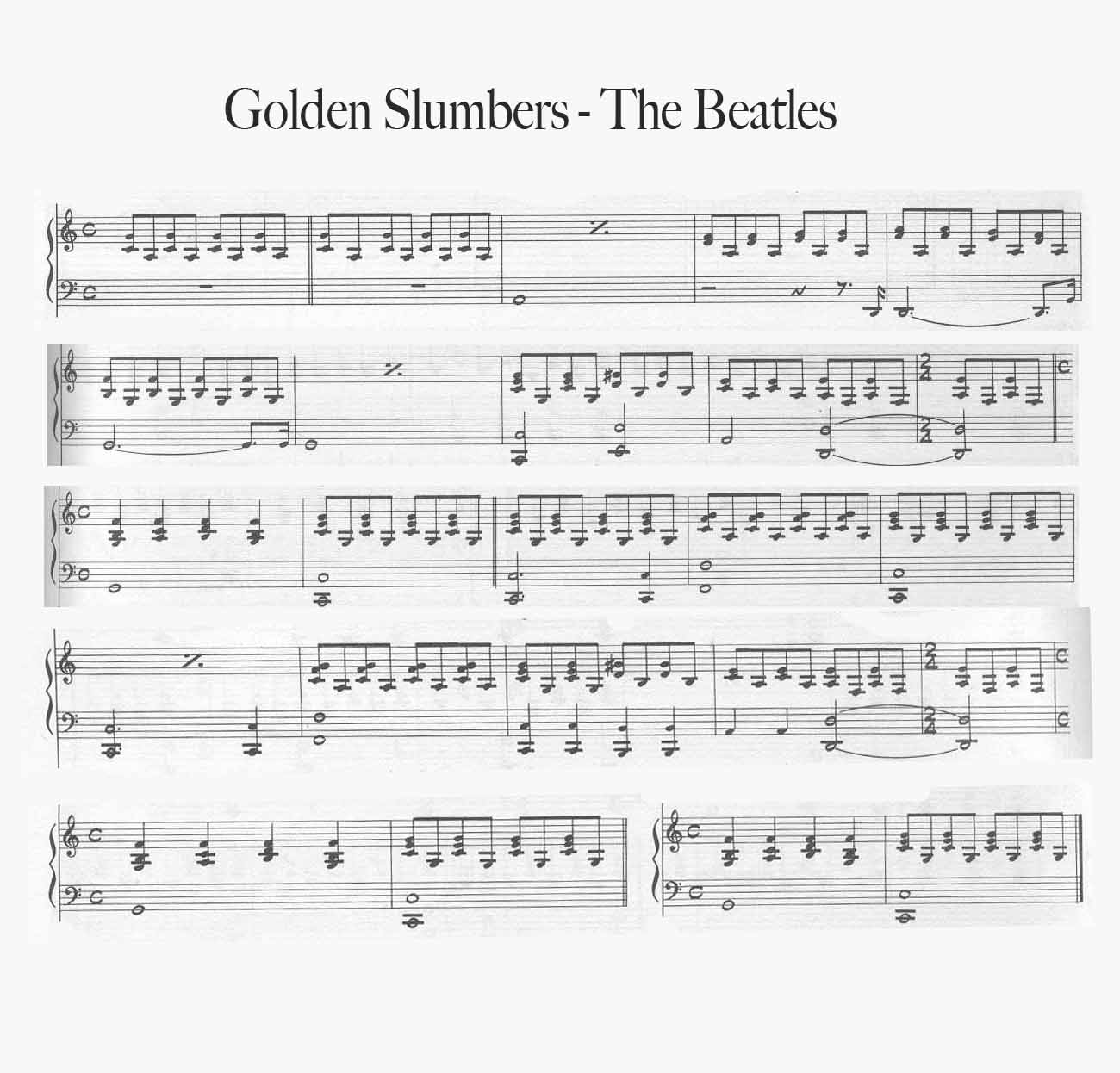 Golden Slumbers – Beatles COVER